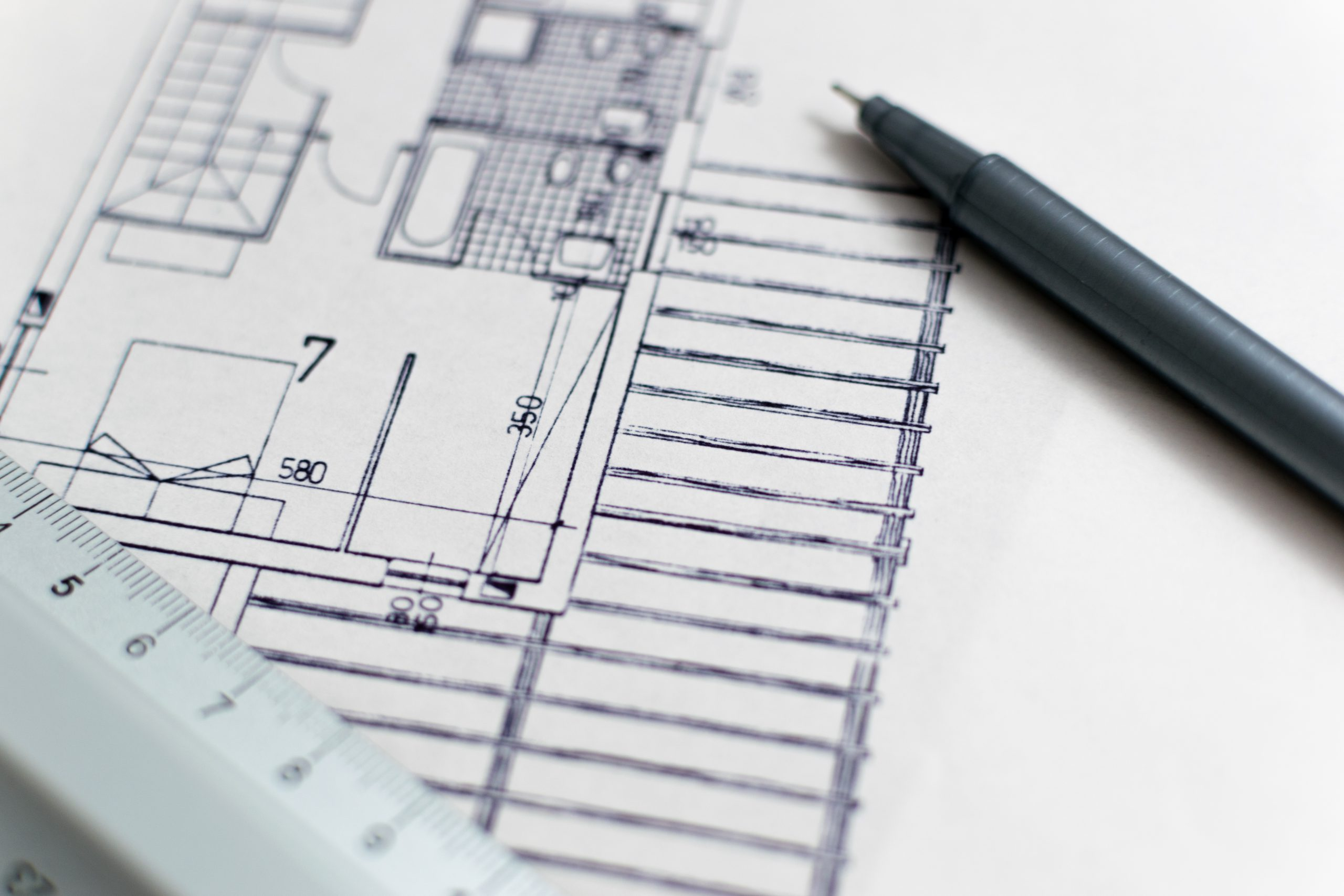 Architecture blueprint with pen and ruler edsl architecture blueprint with pen and ruler malvernweather Images